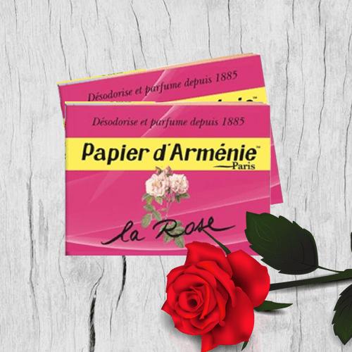 Carta aromatica d'Armenia alla rosa